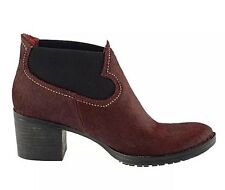 New🌹CLARKS🌹Shoes Size  4.5  MOVIE WISH OX-BLOOD  LEATHER ANKLE BOOTS 37.5EU