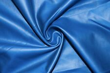 Royal Matte Pleather Faux Leather Stretch Polyester Lycra Spandex Fabric BTY