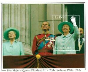 VINTAGE CLASSICS - Sierra Leone 1887 - Queen Elizabeth 70th -Souvenir Sheet- MNH