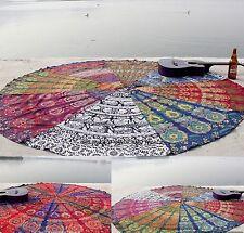 INDIAN MANDALA ROUND BEACH YOGA MAT WALL HANGING TABLE CLOTH RUNNER BIKNI COVER