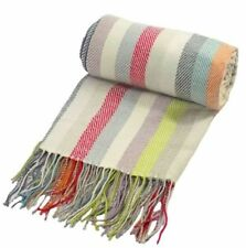 Wool Blend Striped Decorative Throws