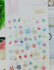1 sheet bike scrapbooking Embellishments  calendar diary planner sticker