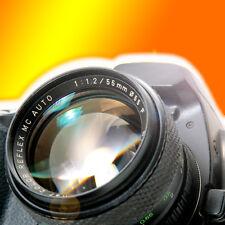 Hochlichtstarkes Objektiv 1:1,2 55mm für Olympus Panasonic Micro Fourthirds 4/3