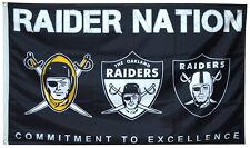 Oakland Raiders NFL Flag 3x5 ft Raider Nation Sports Banner