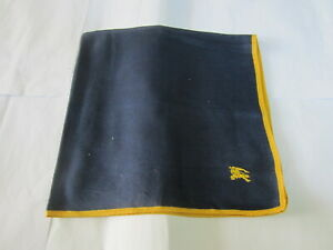 """USED NAVY BLUE SOLID PATTERN COTTON 18"""" HANDKERCHIEF POCKET SQUARE FOR MEN"""