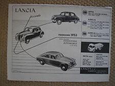LANCIA PRODUZIONE 1953 APPIA AURELIA ESATAU BETA PUBBLICITA WERBUNG ADVERTISING