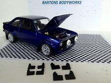 1:18  Greenlight X2 Sets  Rubber Mud Flaps  Rally Ford Escort VW MODIFIED TUNING