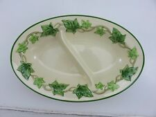 Franciscan Green Ivy Divided Oval Serving Server Dish Vintage Made In California