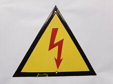 1960 East European Industrial Factory Electricity Warning Enamel Porcelain Sign