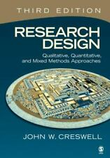 Research Design Third Edition by John Creswell Softcover Book