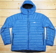 THE NORTH FACE MORPH HOODIE - 800 DOWN insulated MEN'S BLUE PUFFER JACKET - XL