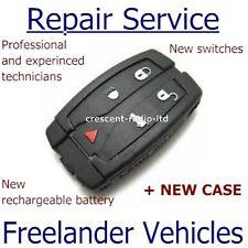 Repair refurbishment service for Land Rover Freelander remote key fob + new case