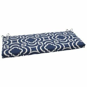 Pillow Perfect Outdoor/Indoor Carmody Navy Bench/Swing Cushion Blue