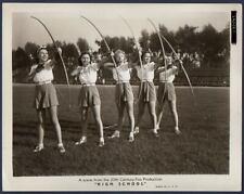 child actress JANE WITHERS leggy girls bow & arrow 1940 ORIG MOVIE PHOTO archery
