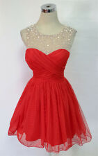 CITY TRIANGLES Red Homecoming Prom Party Dress 9 -$90 NWT