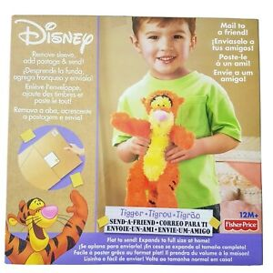 Fisher Price Disney Send A Friend Soft Plush Toy - Tigger - expands to full size