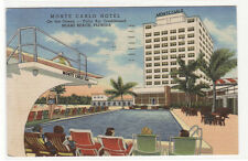 Monte Carlo Hotel Swimming Pool Diving Board Miami Beach Florida postcard