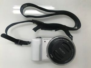 Sony Alpha a5000 20.1MP Digital Camera - White (Kit w/ E PZ OSS 16-50mm Lens)