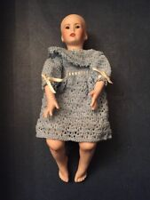 Shay by Rubert Porcelain Bisque Doll Seated Artist Val - No Wig - Crochet Dress