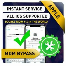🔥 IOS 13.2.3 APPLE IPHONE MDM BYPASS, UNLOCK REMOTE PROFILE REMOVE [INSTANT]