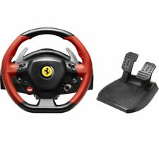 THRUSTMASTER Ferrari 458 Spider Racing Wheel & Pedals - Black & Red - Currys