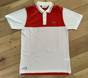 Men's Lacoste ANDY RODDICK Polo Shirt T-shirt Size 3 Small *RARE*
