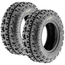2x NEW SunF 23x7-10 (23x7x10) XC Sport ATV Knobby Tires Set Pair 6 PLY A027