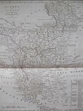 COPPER ENGRAVING TURKEY IN EUROPE COOKES GEOGRAPHY 1802