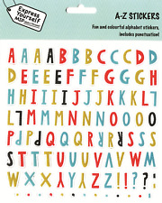 A-Z Stickers Upper Case Letters Stick-On DIY Card Toppers Personalise Cards