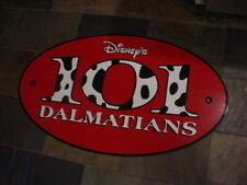 """rare,park used Disney's 101 Dalmations Lucite Store Sign 33""""x19""""x 5/16"""""""