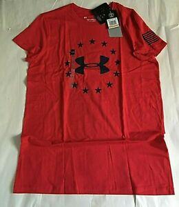 $25 Under Armour 1333372-600 Women's UA Heatgear Freedom Logo T-Shirt SM/CH, NWT