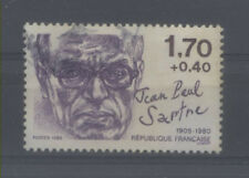 FRANCE TIMBRE OBLITERE N° 2357 PERSONNAGES CELEBRES 1985 JEAN PAUL SARTRE o4