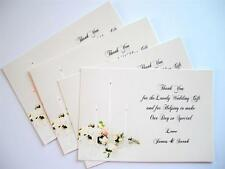 24 Personalised THANK YOU FOR OUR WEDDING GIFT / Hand made CARDS & ENVELOPES