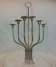 Vintage Tommi Parzinger Mid Century Modern Brass 6 Hole Candle Holder Sconce