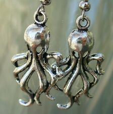 Steampunk OCTOPUS  Pirate Earrings Victorian goth witch
