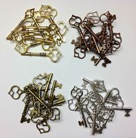 Santa Keys - Choice of Colour and Qty -  Metal Charms Steampunk Parts Jewellery