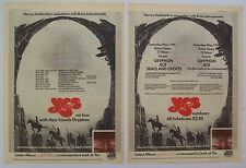 YES 1975 Poster Ad UK CONCERT TOUR yesterdays