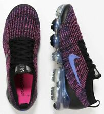 Nike Air VaporMax Flyknit 3 Black Purple Trainers Shoes UK 7.5, 8, 9.5, 10, 11