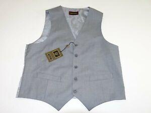 Giorgio Fiorelli Men's Suit Vest Size 40 Long NWT Gray Button Front Polyester L