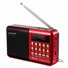 Fm Radio Tragbare Mini-radio Musik-player Tf Karte Usb Mp3 Digitale Lautsprecher Wiederaufladbare Für Camping Wandern Outdoor Sport Starke Verpackung Radio