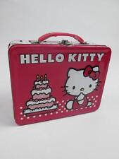 HELLO KITTY BOW POLKA DOT BIRTHDAY CAKE STATIONARY TIN PRESENT LUNCH BOX NEW