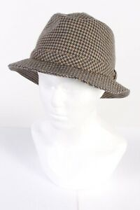 Chisnall 1980s Fashion Trilby Hat Lined Wool Blended Mens Vintage Multi - HAT663