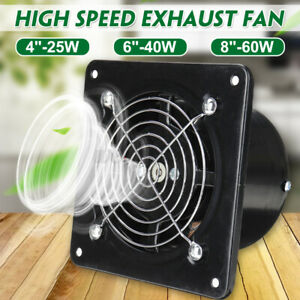 4/6/8'' Silent Wall Extractor Exhaust Ventilation Fan Inline Duct Blower Kitchen