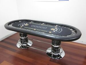 "LUXURY 96"" PROFESSIONAL POKER TABLE w/ SPEED FELT + COVER"