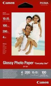 Canon Glossy Photo Paper 10x15 200g/qm 100 Stück GP-501