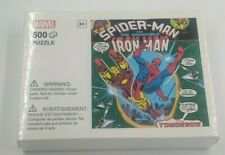 Marvel 500 piece puzzle Spider-man and Iron man Miniso new unopened