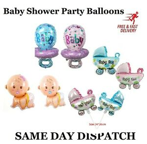 ITS A BOY/GIRL FOIL HELIUM BALLOONS CELEBRATION NEW BABY SHOWER PARTY