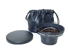OLYMPUS WCON-07 WIDE Angle Conversion Camera LENS 0.7 x 55mm+Soft  Case+F/R Caps