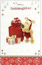 Boofle Lovely Goddaughter Christmas Greeting Card Embellished Special Xmas Cards
