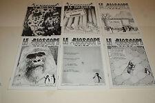"""6 NUMÉROS DE LA REVUE """"LE BIOSCOPE"""" - N°2 - 3 - 4 - 5 - 6 et 7 - 1978 - 1979 !!!"""